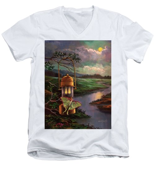 Moonlight, Silhouettes And Shadows Men's V-Neck T-Shirt