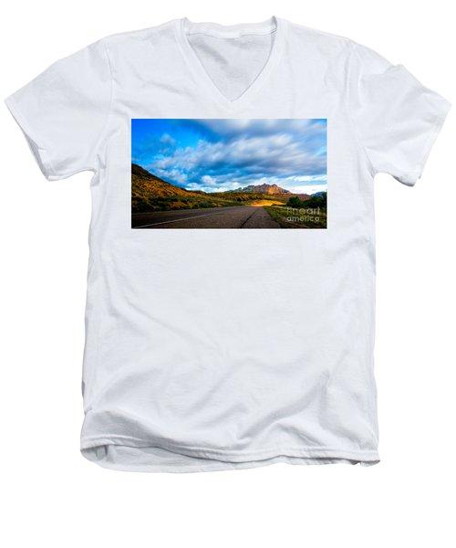Moonlit Zion Men's V-Neck T-Shirt