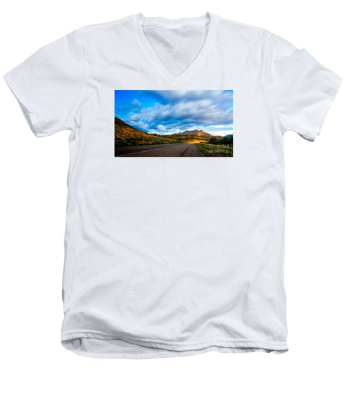 Moonlit Zion Men's V-Neck T-Shirt