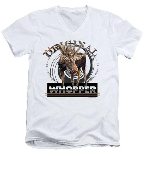 Moose Whooper Men's V-Neck T-Shirt