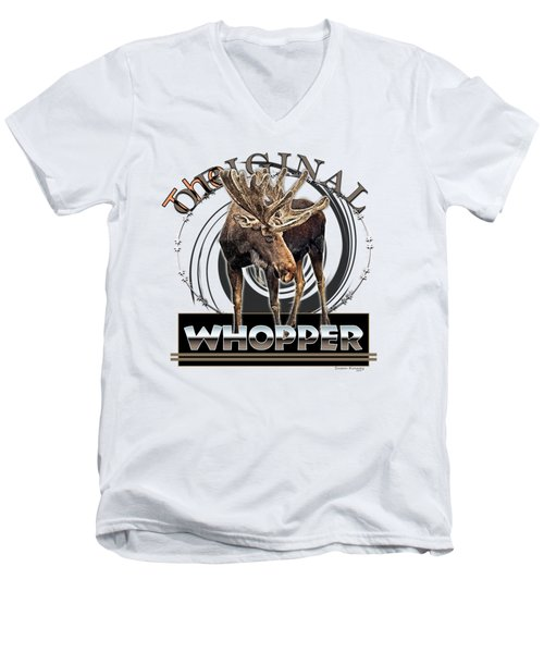 Moose Whooper Men's V-Neck T-Shirt