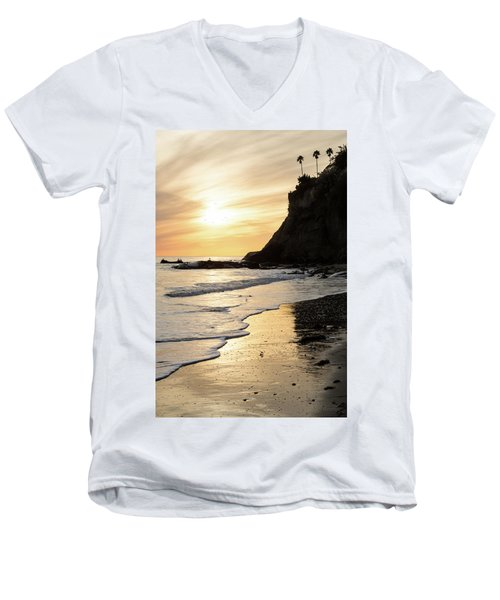 More Mesa Sunset West Men's V-Neck T-Shirt