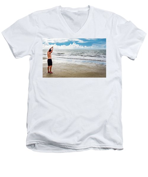 Morning Beach Workout Men's V-Neck T-Shirt