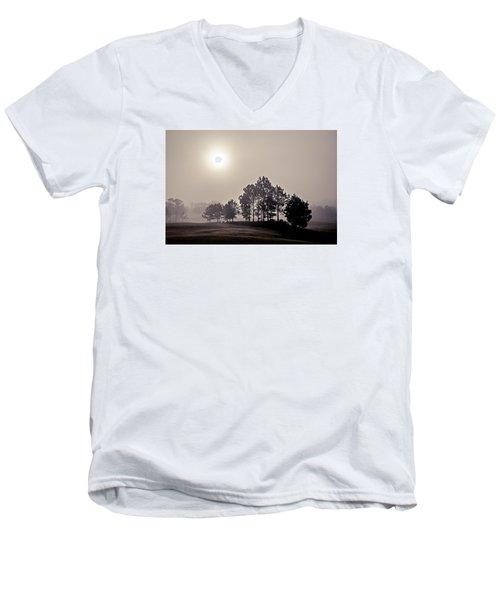 Morning Calm Men's V-Neck T-Shirt by Annette Berglund