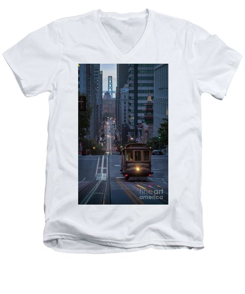 Morning Commute Men's V-Neck T-Shirt by JR Photography