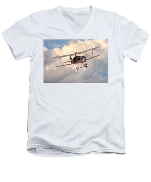 Morning Flight - Se5a Men's V-Neck T-Shirt by David Collins