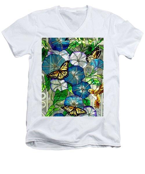 Morning Glory Men's V-Neck T-Shirt by Diane E Berry
