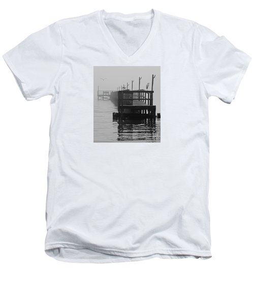 Men's V-Neck T-Shirt featuring the photograph Morning Meeting by Joe Jake Pratt