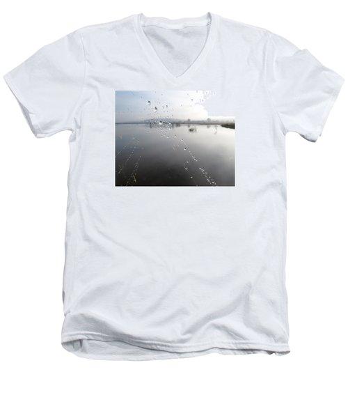 Morning Pearls Men's V-Neck T-Shirt by I'ina Van Lawick