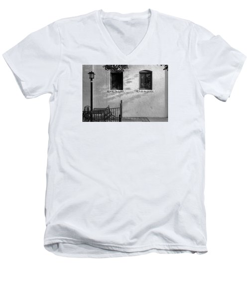 Men's V-Neck T-Shirt featuring the photograph Morning Shadows by Monte Stevens