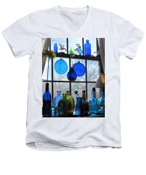 Morning Sun Men's V-Neck T-Shirt by John Scates