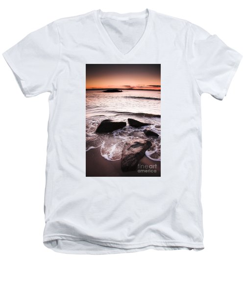 Men's V-Neck T-Shirt featuring the photograph Morning Tide by Jorgo Photography - Wall Art Gallery