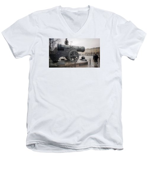 Moscow Cannon Relic Men's V-Neck T-Shirt by Ted Pollard