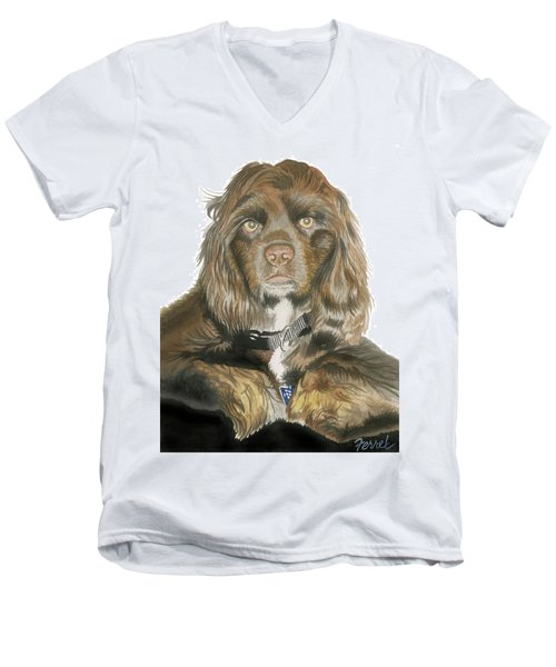 Mose - Cocker Spaniel Men's V-Neck T-Shirt