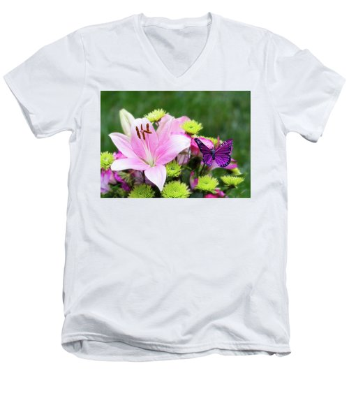 Mother's Day Bouquet  Men's V-Neck T-Shirt