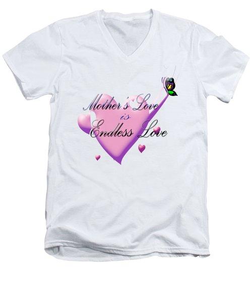 Mother's Love Men's V-Neck T-Shirt by Judy Hall-Folde