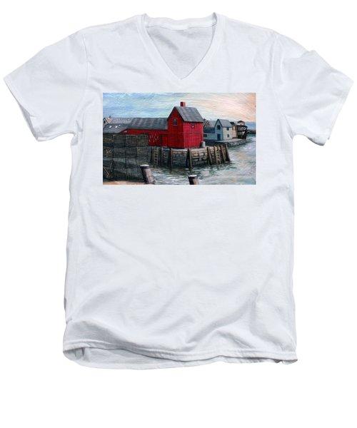 Motif No.1 Men's V-Neck T-Shirt by Eileen Patten Oliver