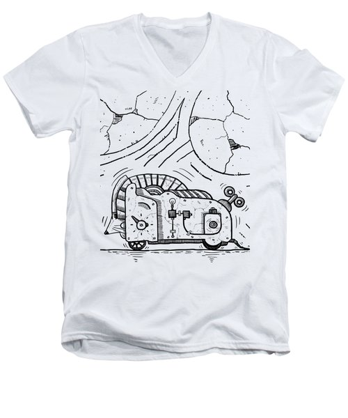 Moto Mouse Men's V-Neck T-Shirt