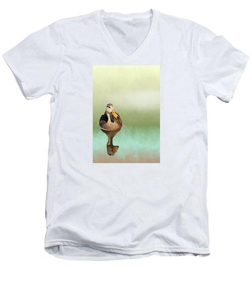 Mottled Duck Reflection Men's V-Neck T-Shirt