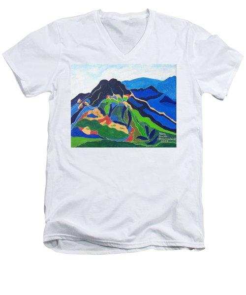 Mount Canigou Men's V-Neck T-Shirt