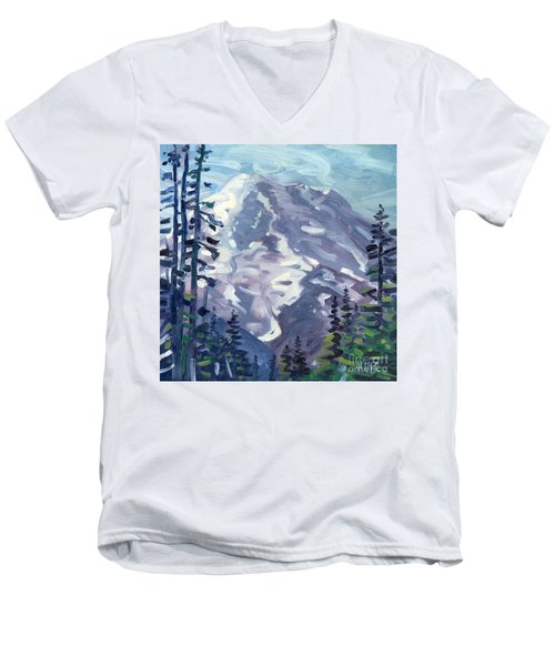 Mount Rainier From Sunrise Point Men's V-Neck T-Shirt