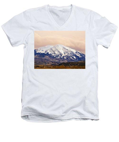 Mount Sopris Men's V-Neck T-Shirt by Marilyn Hunt