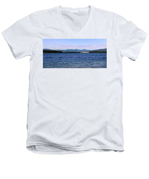 Mount Washington Men's V-Neck T-Shirt by Mim White