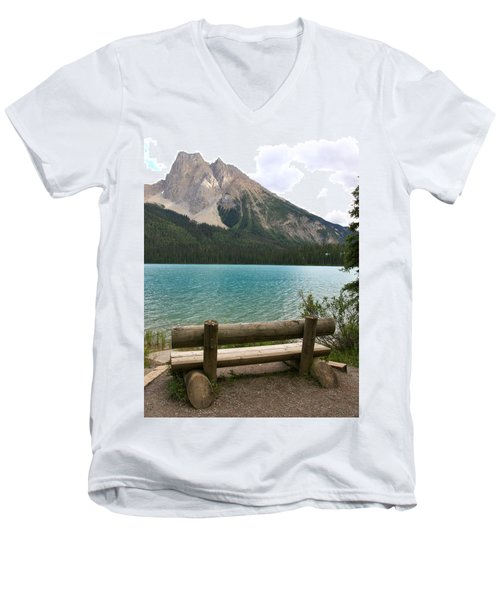 Mountain Calm Men's V-Neck T-Shirt by Catherine Alfidi