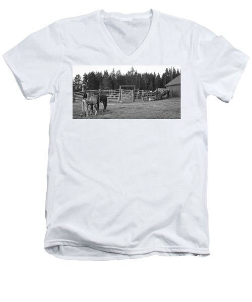 Mountain Corrals Men's V-Neck T-Shirt