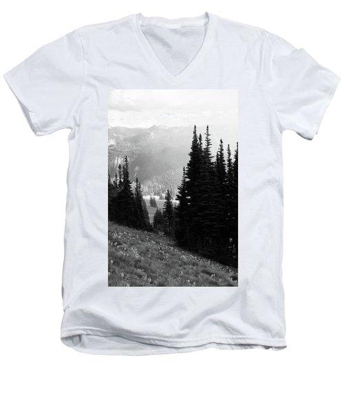 Mountain Flowers Men's V-Neck T-Shirt