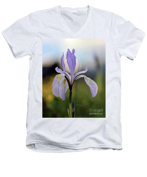 Mountain Iris With Bud Men's V-Neck T-Shirt