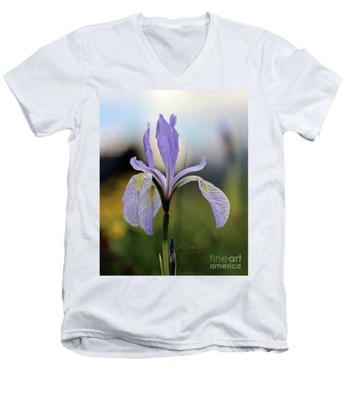 Mountain Iris With Bud Men's V-Neck T-Shirt