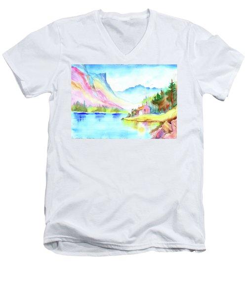 Mountain Lake Men's V-Neck T-Shirt