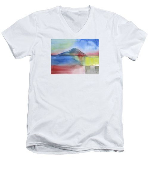 Men's V-Neck T-Shirt featuring the painting Just Before The Rain by Frank Bright