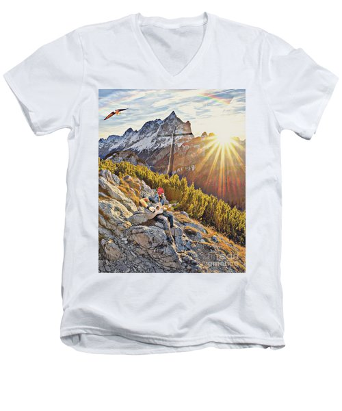 Mountain Of The Lord Men's V-Neck T-Shirt