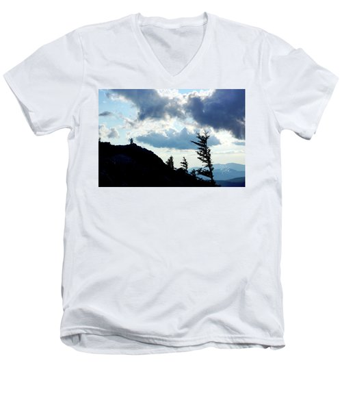 Mountain Peak Men's V-Neck T-Shirt