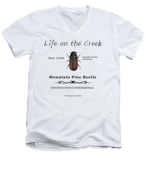 Mountain Pine Beetle Color Men's V-Neck T-Shirt