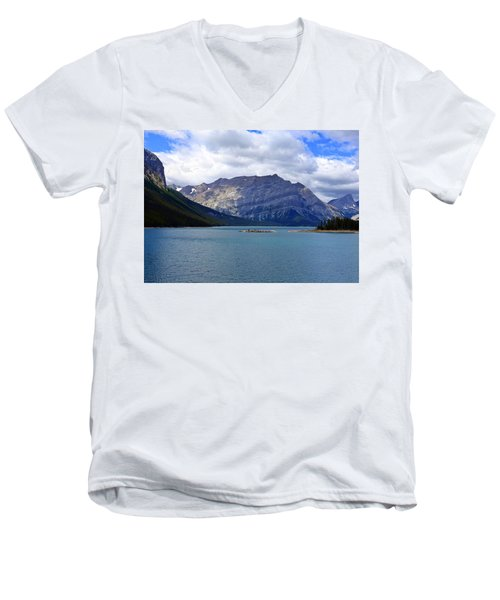 Upper Kananaskis Lake Men's V-Neck T-Shirt by Heather Vopni