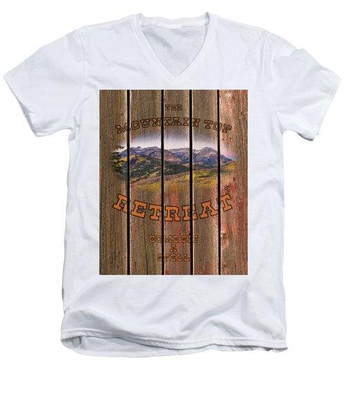Mountain Top Retreat Men's V-Neck T-Shirt