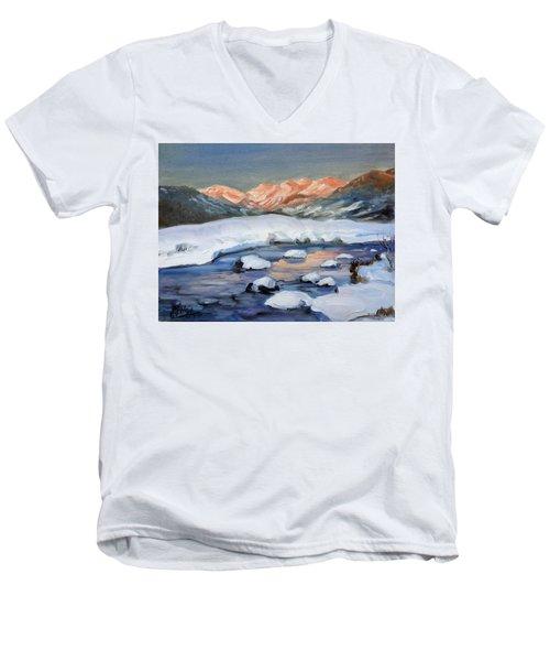 Mountain Winter Landscape 1 Men's V-Neck T-Shirt by Irek Szelag