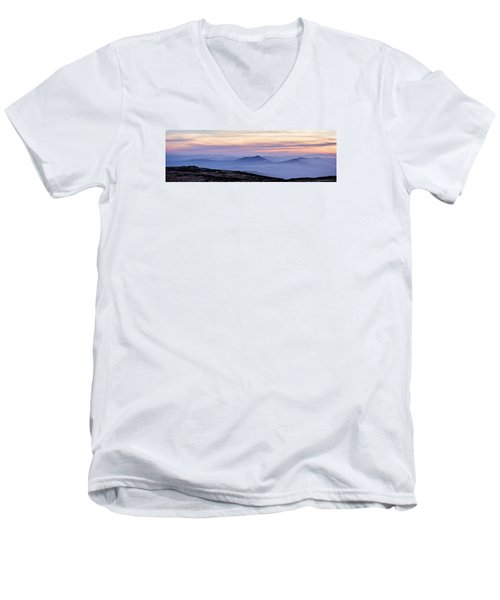 Mountains And Mist Men's V-Neck T-Shirt by Marion McCristall