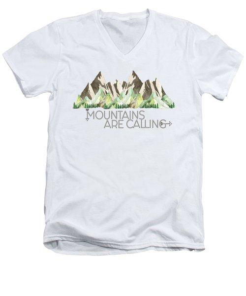 Mountains Are Calling Men's V-Neck T-Shirt