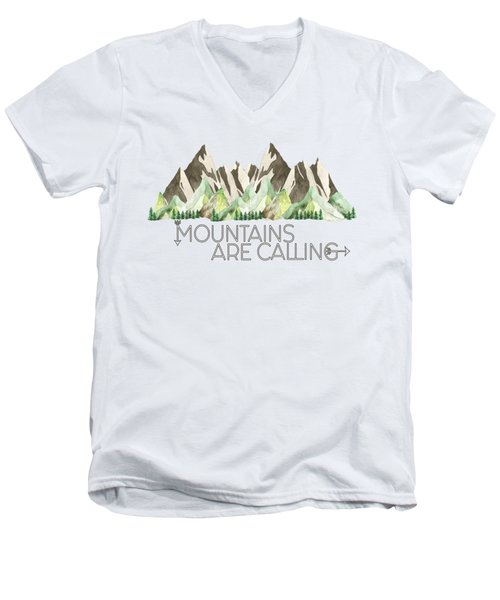 Mountains Are Calling Men's V-Neck T-Shirt