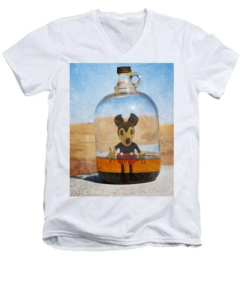 Mouse In A Bottle  Men's V-Neck T-Shirt