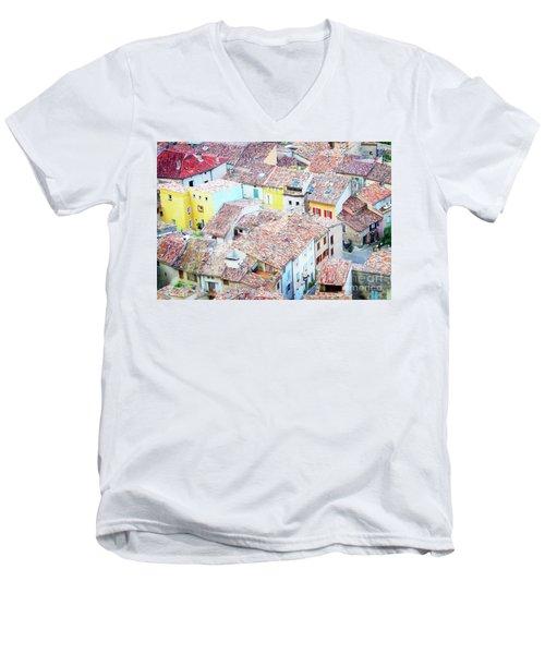 Moustiers Sainte Marie Roofs Men's V-Neck T-Shirt