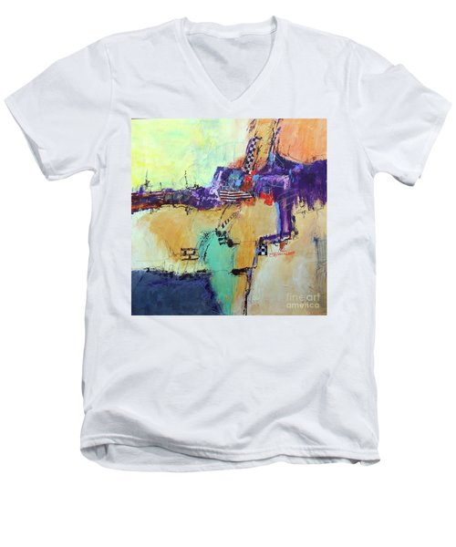Movin' Left Men's V-Neck T-Shirt by Ron Stephens