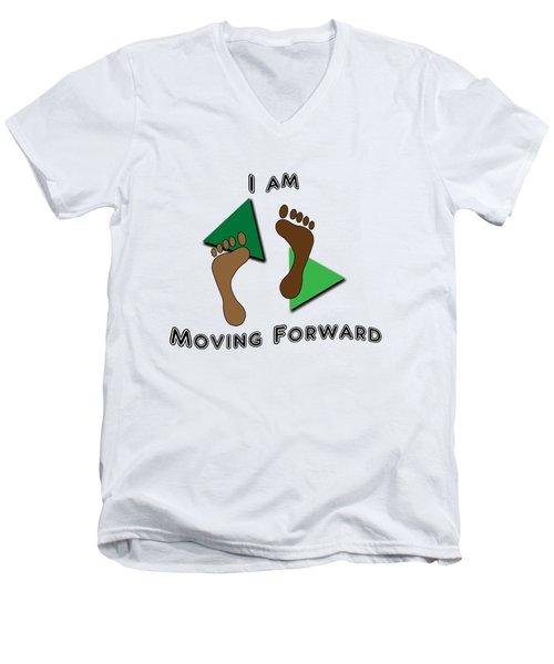 Moving Forward Men's V-Neck T-Shirt by Judi Saunders
