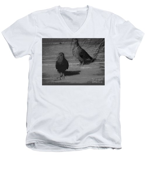 Mr And Mrs Dove Men's V-Neck T-Shirt