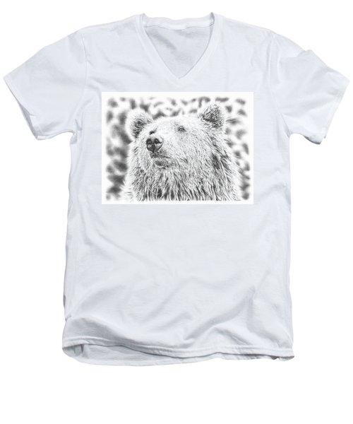 Mr. Bear Men's V-Neck T-Shirt