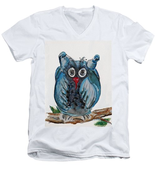 Mr. Blue Owl Men's V-Neck T-Shirt